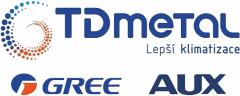 logo TD metal s.r.o. - Klimatizace GREE a AUX