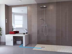 SANIFLOOR - bezbariérová sprcha kdekoli