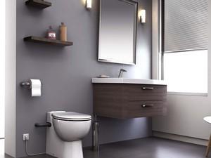 SANICOMPACT Pro - kompaktní WC s přečerpáním