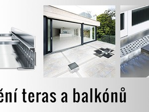 Odvodnění teras a balkónů